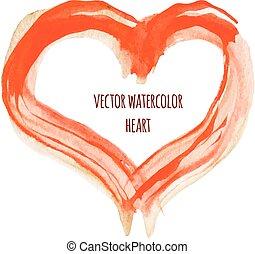 Vector Watercolor Heart