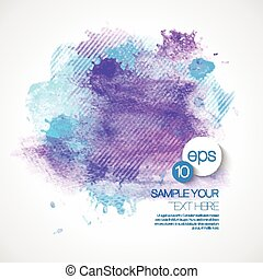 Vector Watercolor Paint Abstract Background