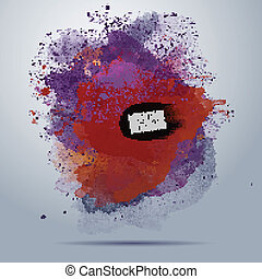 Vector watercolor paint abstract background - Vector ...