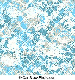 Vector watercolor splashes pattern in bright color