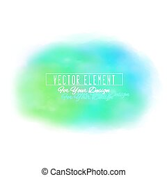 Vector watercolor spot. Watercolor background. Colorful abstract texture. Blue and green colors