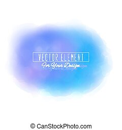 Vector watercolor spot. Watercolor background. Colorful abstract texture. Blue colors
