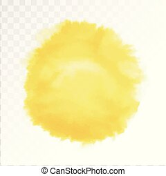 Vector Watercolor Sun Isolated On Transparent Background Illustration