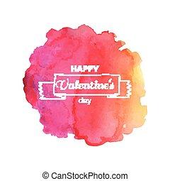 Vector Watercolor Valentines Day Design - Vector...