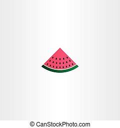 vector watermelon icon sign