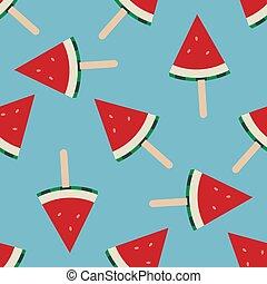 vector watermelon seamless background pattern