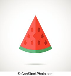 Vector watermelon slice icon