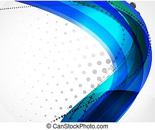 Vector wave line abstract background