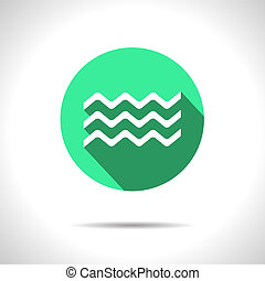 Vector waves icon. Eps10