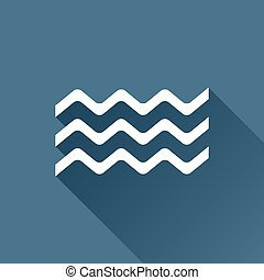 Vector waves icon