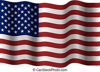 vector waving flag of united states of america