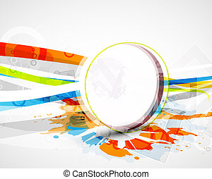 Vector wavy lines. Abstract background