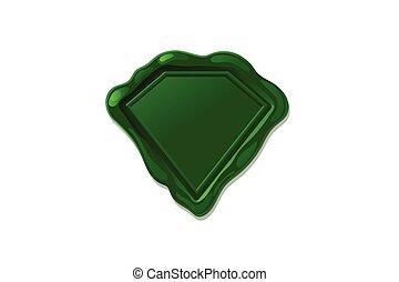 vector wax seal stamp shape