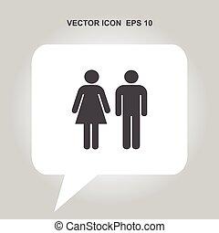 vector, wc, icono