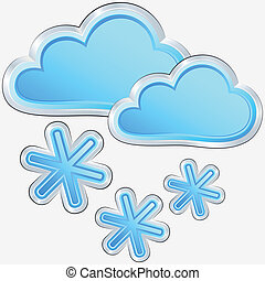 vector weather icon with a snow weather