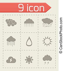 Vector weather icons set