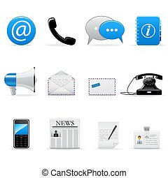 Vector web and communication icons set
