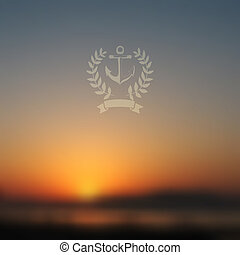 Vector web and mobile interface background. Corporate website design. Minimalistic media backdrop. Vector. Editable. Unfocused. Wreath. Seaside background. Badge. Blurred Sunset, sunrise wallpaper