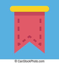 Vector Web Bookmark Ribbon Icon