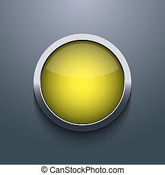 Vector web button design on gray background. Eps10