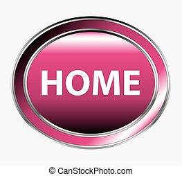 Vector web button - home button