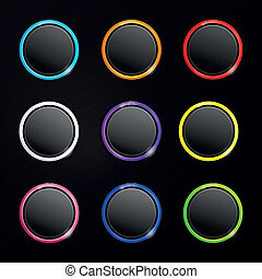 Vector Web Buttons for Website or App