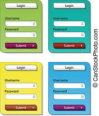 vector web form design templates