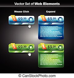 web glossy button