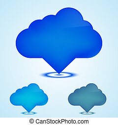 Vector web icons clouds set. Eps10