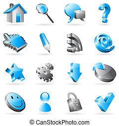 Set of 16 vector web icons.