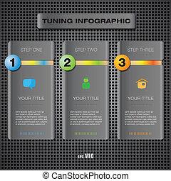 Vector web info panel elements