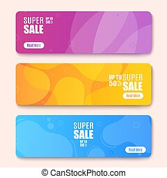 vector, web, more., kleurrijke, lezen, spandoek, illustratie, knoop
