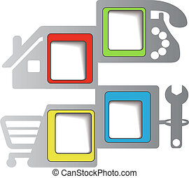web navigation - menu template