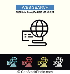 Vector web search icon. Internet concepts. Premium quality graphic design. Modern signs, outline symbols collection, simple thin line icons set