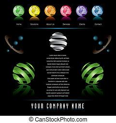 vector web site design