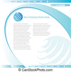 web site design - Vector web site design template