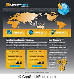 web site design - Vector web site design template with globe