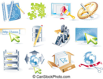 Vector web site development icon se