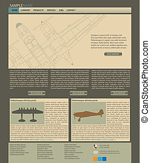 Vector web site layout