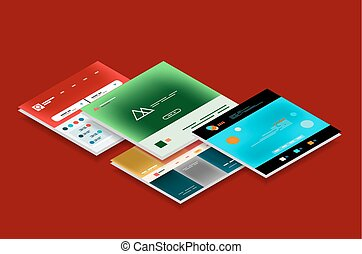Vector web site page design development concept