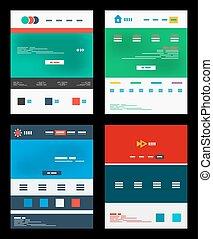 Vector web site schemes templates set