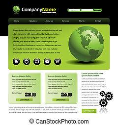 Vector web site template
