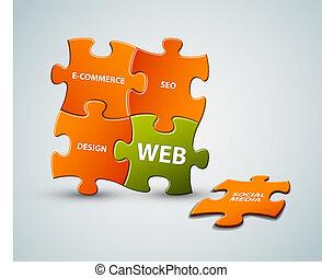 Vector web solution illustration