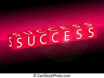Vector web success text template -