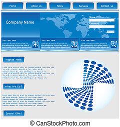 vector web template - blue vector