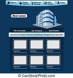 Vector web template, real estate webdesign proposal - EPS 10