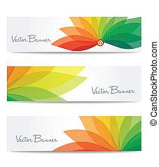 vector website header or banner set. EPS 10. - vector...