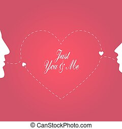 Vector wedding card with romantic c