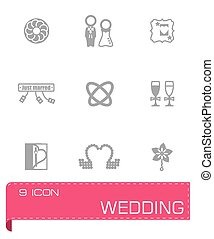 Vector Wedding icon set