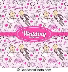 Vector wedding illustration